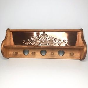 Vintage Home Interiors Wood/Copper Pineapple Shelf